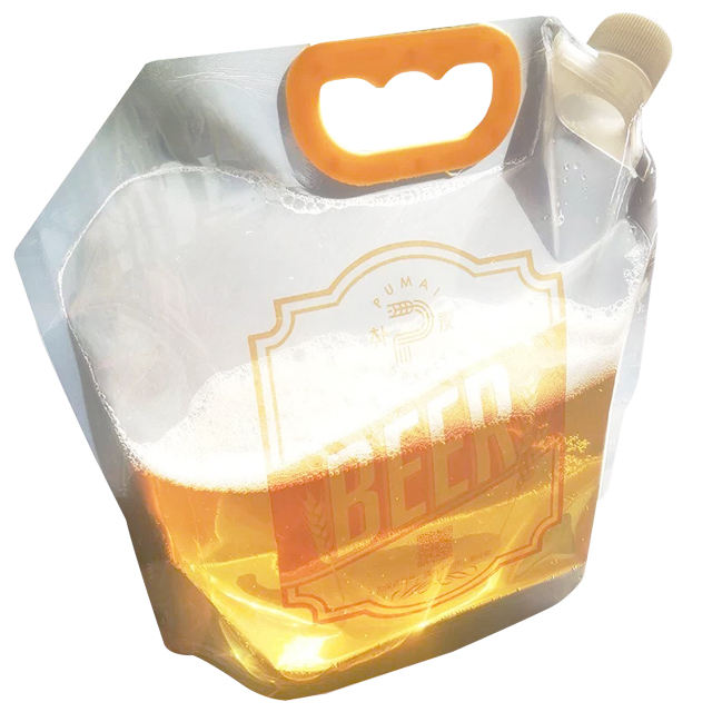 NEWEST Liquid Stand up spout pouch plastic bag beer packaging bag
