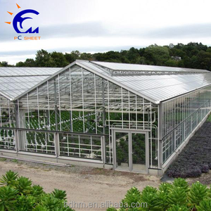 One stop gardens greenhouse parts with automatic window opener & polycarbonate plastic sheeting