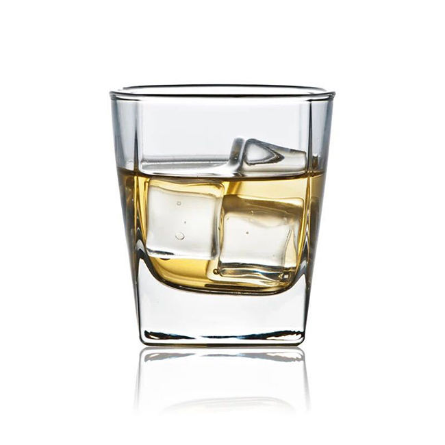 6oz small square whisky glass wine glass cup without handle