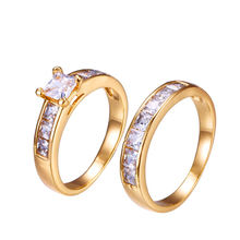 15603 Xuping new design Jewelry Fashion 18K Gold Color Couple Ring Of Hot Sale