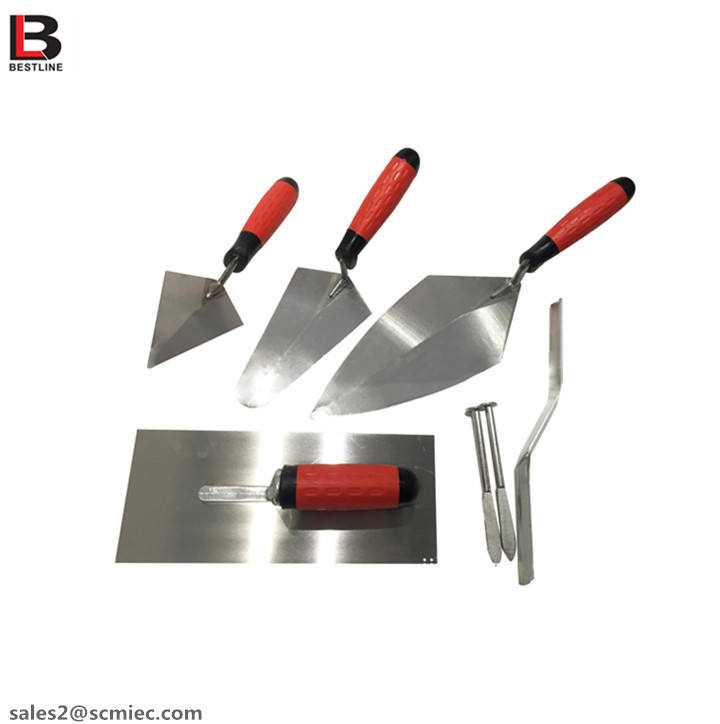 Professional Building decoration Hand tool set 5 pcs set Plastering trowel Bricklaying Knife Set
