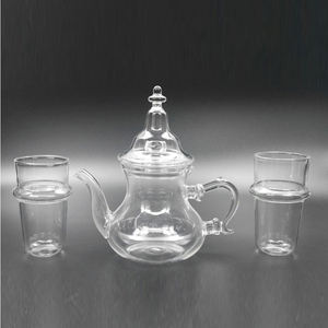 Coffee Tea Sets Drinkware Type Teapots Material Moroccan Glass Teapot
