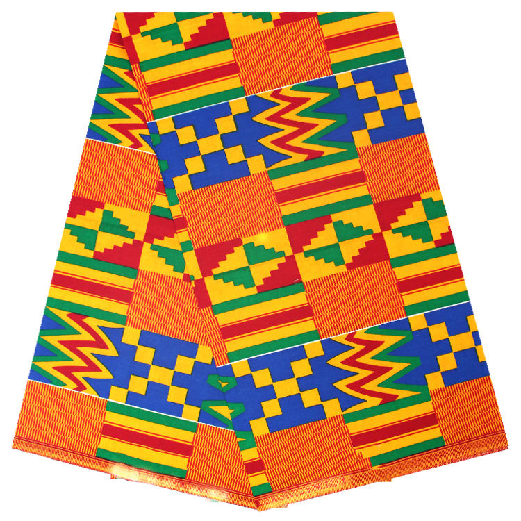 Popular African Kente wax fabric