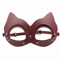 PU Leather Adult Animal Mask For Male Bondage Sex Hood