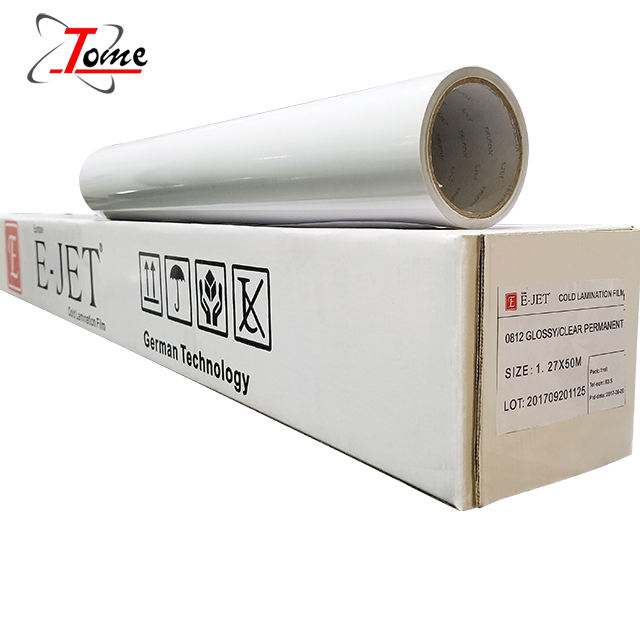 Hot Sale and Promotion Price!! Gloosy/Matte inkjet pvc transparent cold lamination film for photo paper in roll