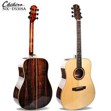 NX-D530SA   41 Inch Glossy 6 Strings Top Solid Spruce Ebony Fingerboard High Quality Acoustic Guitar From China Factory