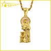 14k yellow gold plated mens hip hop necklace jesus chris body pendant