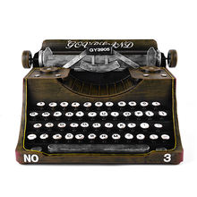 Factory Wholesale Beautifully Typewriter Model Antique Metal Crafts
