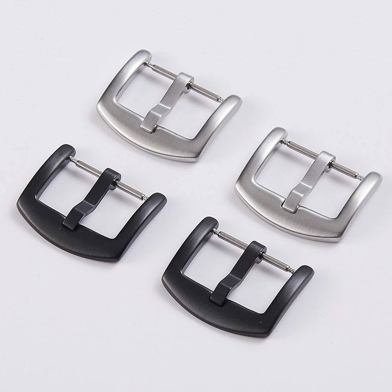18mm Black Stainless Steel Watch Buckle