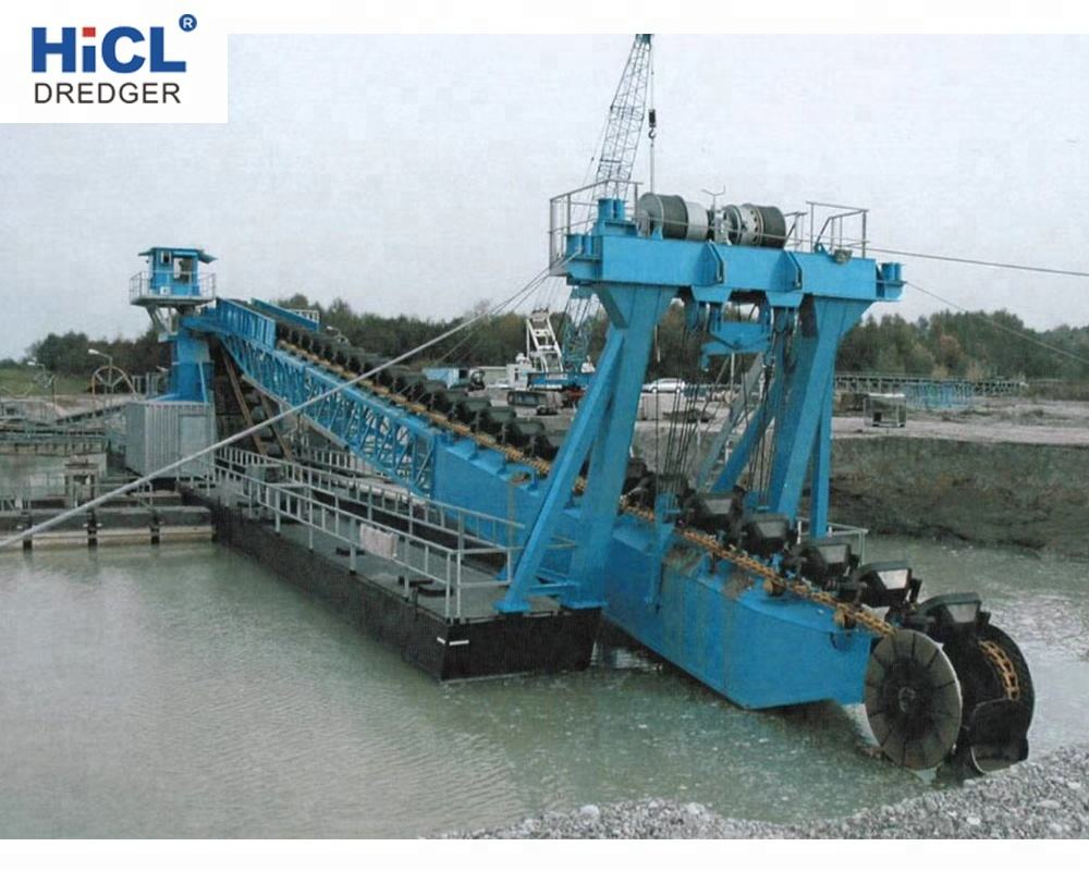 28m depth 400m3 sand gold chain bucket dredger/sand dredging machine/bucket chain diamond dredging equipment