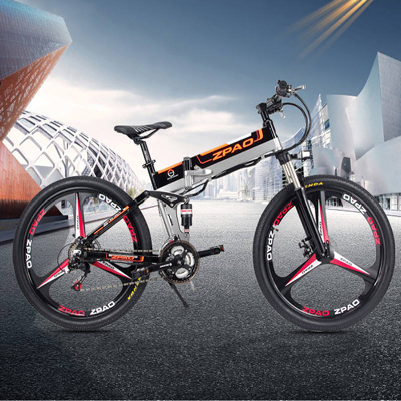 48V 12.8AH Lithium Battery E Bicycle Aluminium Alloy Frame 350W Folding Electric Bike 26 Inch