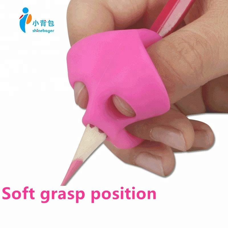 Custom 100% silicone rubber triangle the easy pencil grip children pencil grips for kids handwriting