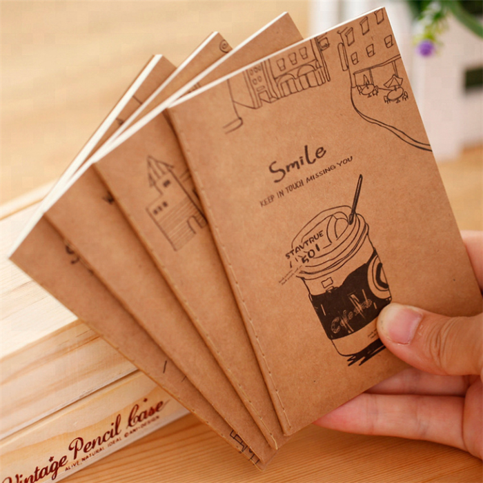 promotional kraft paper cute small journal notebook in stock