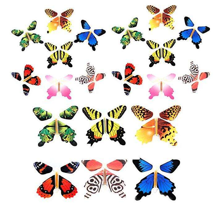 Magic Butterfly Flying in the Book Fairy Rubber Band Powered Wind Up Butterfly Toy Great Surprise for Wedding And Birthday Gifts