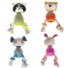 wholesale manufacturer cute chew indestructible plush rope tpr set pet dog toys