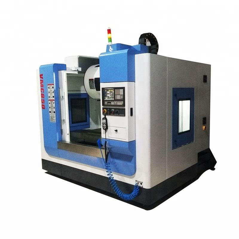 VMC850 metal 3 axis 4 axis cnc milling machine working 5 axis mill