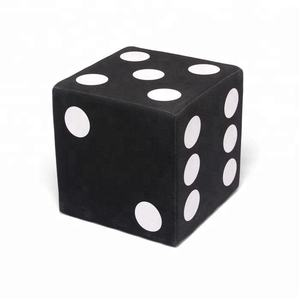 Wholesale Furniture Unfolded Cotton Black Dice Cube Ottoman Stool
