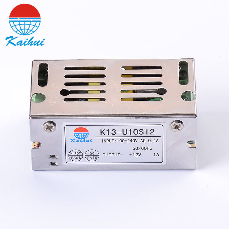 Single output dc 12v 1a smps metal case power supply circuit 1a
