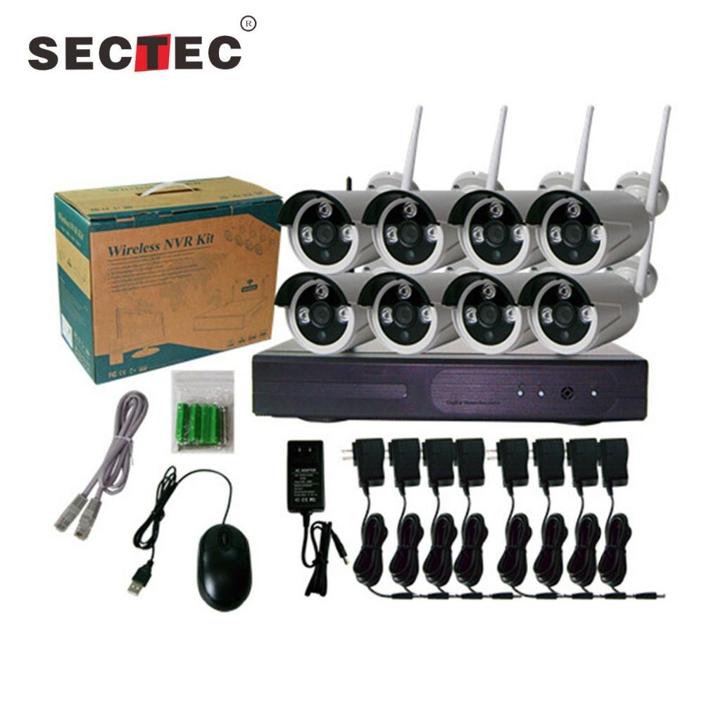 CCTV Hot Products 8CH 1080P Network Video Recorder WIFI Wireless NVR,Wireless IP Camera NVR kit