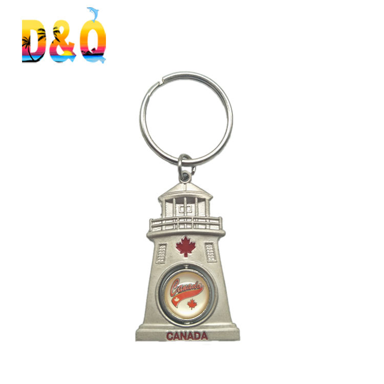 Lighthouse Key Chain Hand Painted Resin E