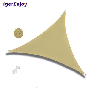 uv resistant retractable hdpe customized triangle outdoor wind waterproof sun shade sail