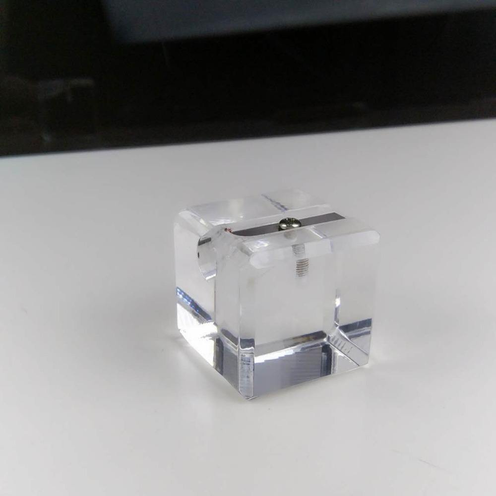 Pencil Sharpener, DUX Luxury Acrylic Cube Shaped. 1-hole.