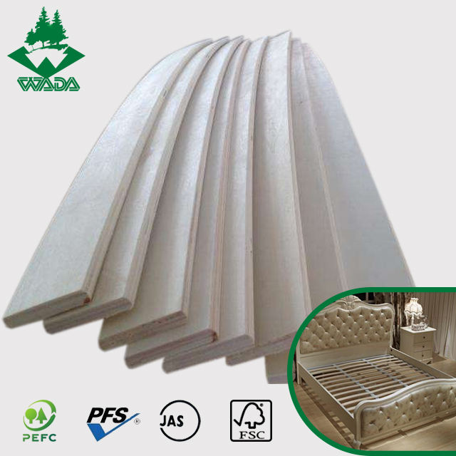 high quality poplar lvl bent wood curved bed slat for slat bed parts