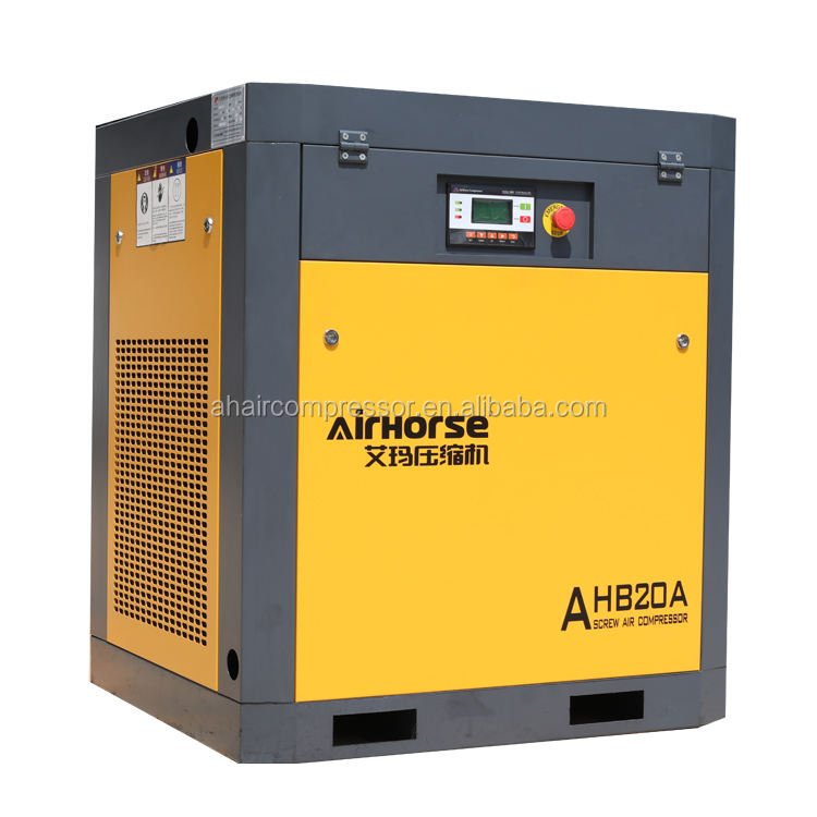 New product hot sale silent air compressor 500l AIRHORSE 15kw 20hp screw air compressor