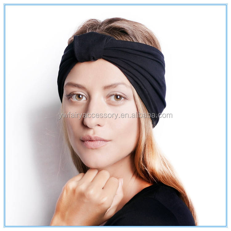 Latest Fashion Cotton Women Headband Ear Cover Ponytail Headband Sports Yoga Headband