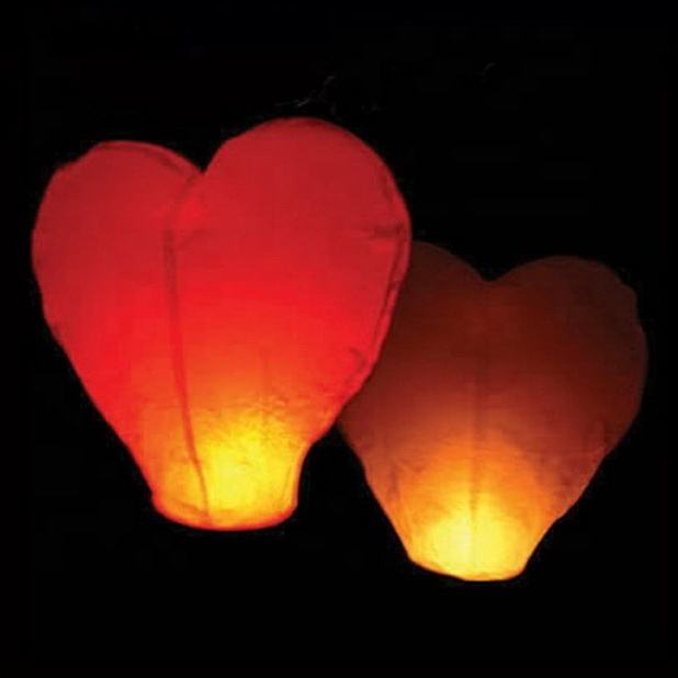Giant Heart Chinese Flying Lantern Balloon Sky Lantern