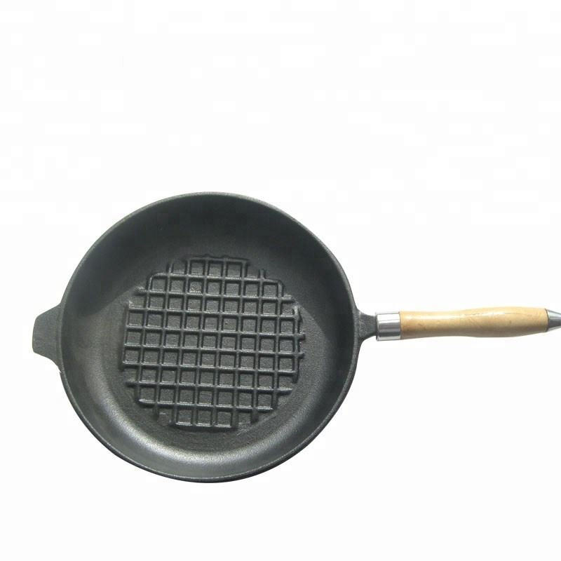 Best Heavy-duty Professional pre-seasoned black cast iron skillet with wood handle