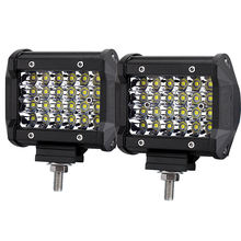 Quad Row 4 rows LED Work Light Bar 4'' 72w LED Car Driving Headlights 4x4 Offroad Lighting Accessories