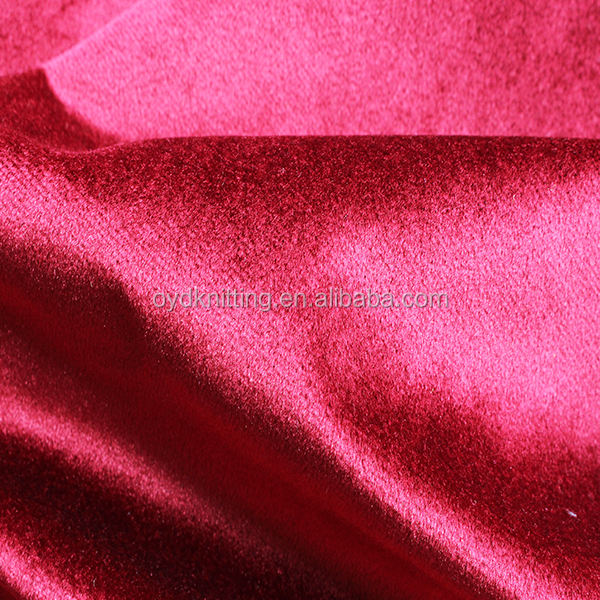 Polyester Knitted Double Fold Rolling Shiny Italy/Italian Velvet Curtains/Sofa Fabric