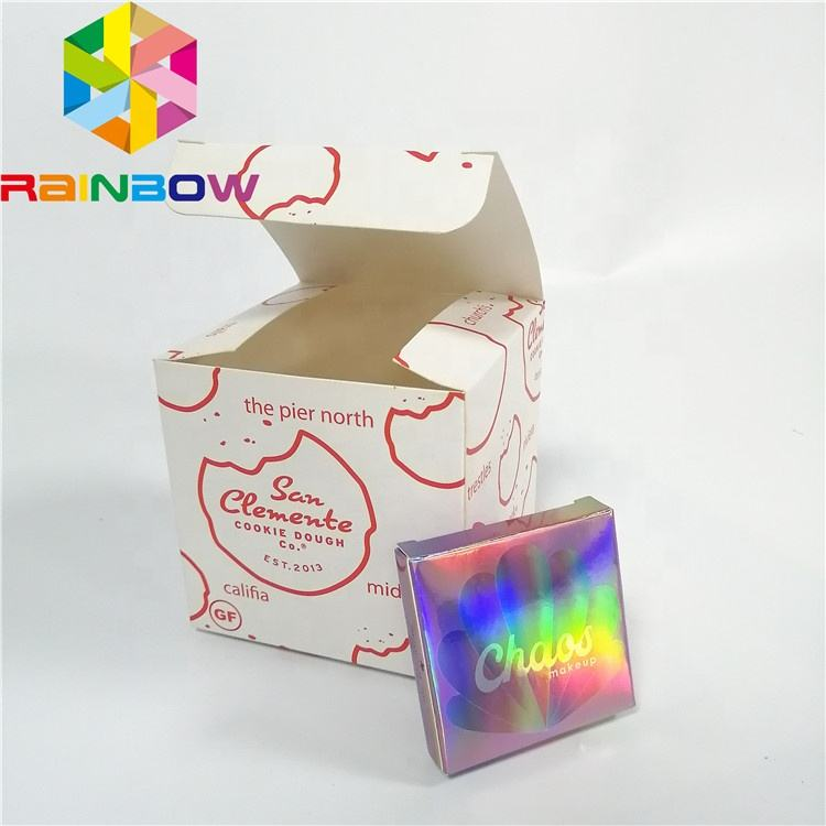Custom Printing Gift Boxes Wedding Birthdays White Paper Boxes For Hot Sale Cakes Cookies Candy Packaging