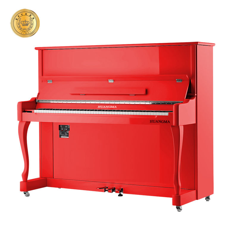 HD-L123 Rechtop 88 Key Digitale Piano Rood Polish W/Midi Interface, Elektronische Piano Touch Reactie Toetsen