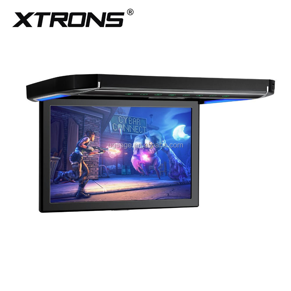 Xtrons 12 ''1080 p grande Ecrã de Vídeo flip down monitor de tv teto do elevador, 12.1