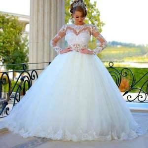 Long Sleeve Princess Wedding Gowns Long Sleeve Princess Wedding Gowns Suppliers And Manufacturers At Alibaba Com
