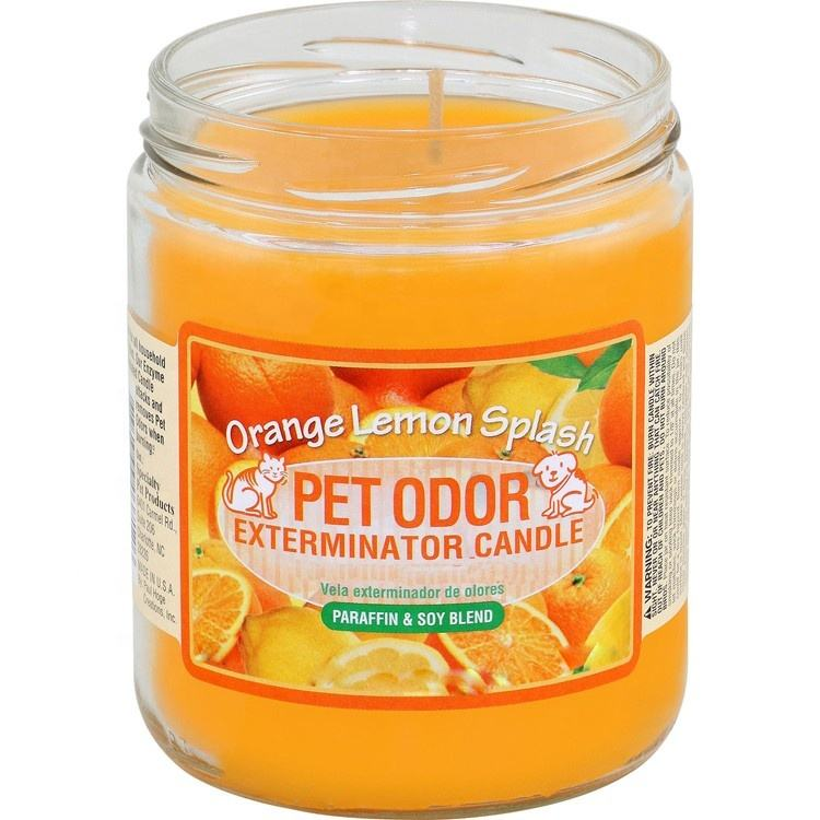 Specialty Pet Odor Products Exterminator Orange Lemon Glass Jar Soy Candle