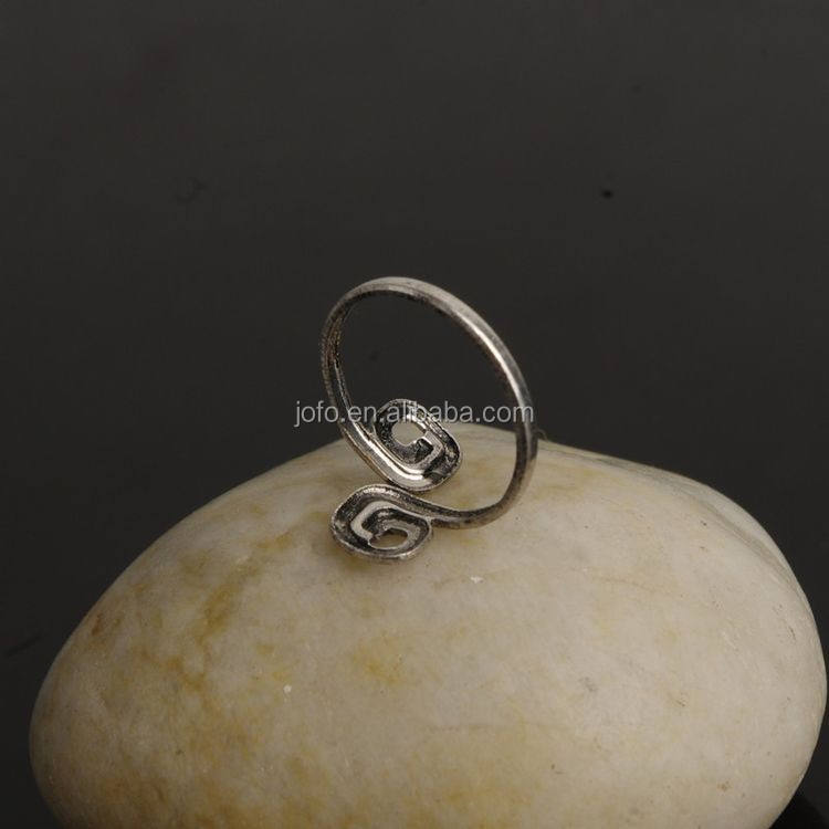 Cheap Price Elegant Adjustable Lady Antique Silver Toe Ring