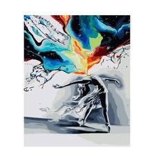 CHENISTORY DZ111111 Abstract Figure DIY Painting By Numbers Wall Art Picture Painting Calligraphy For Home Decors 40x50cm Arts