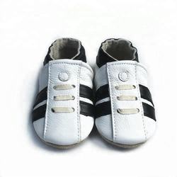 New design soft sole leather baby shoes for boys