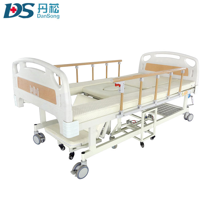 hospital bed multifunction function patient bed with toilet and wheelchair
