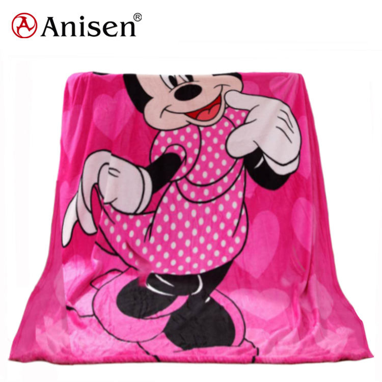 Wholesale Soft Fleece Oem Home Textile Character Cartoon Baby Blanket