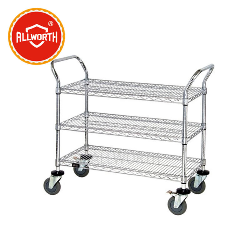 Cold Rolled Wire Mesh Utility Cart
