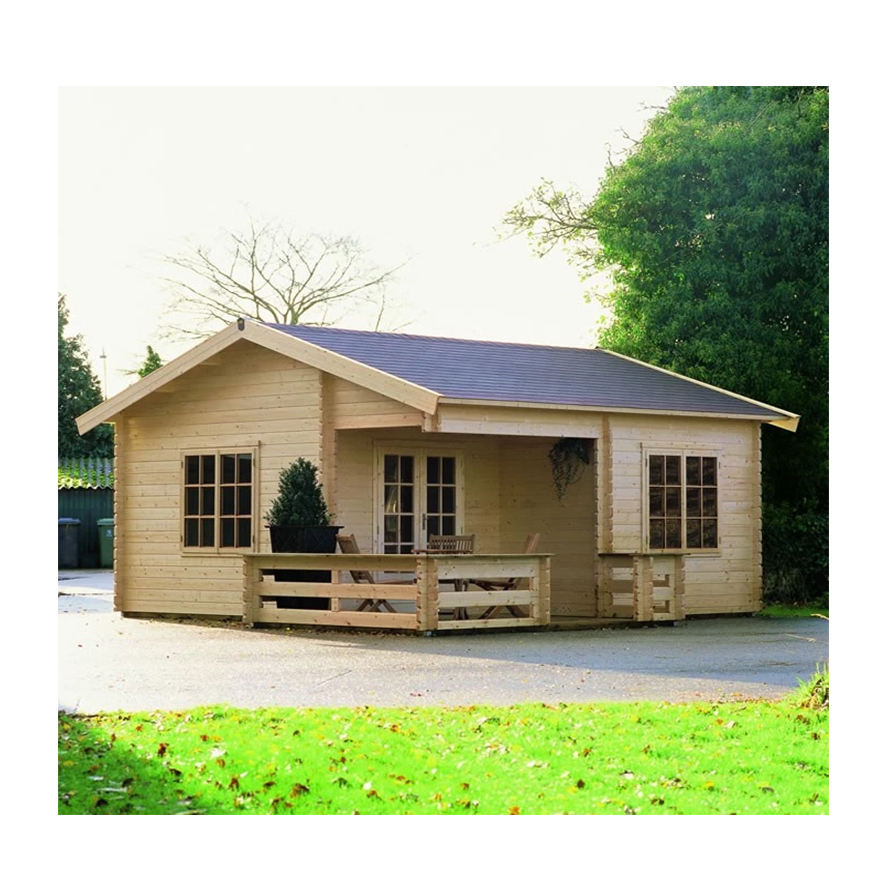 Russian wooden house prefabricated house bungalow log cabin