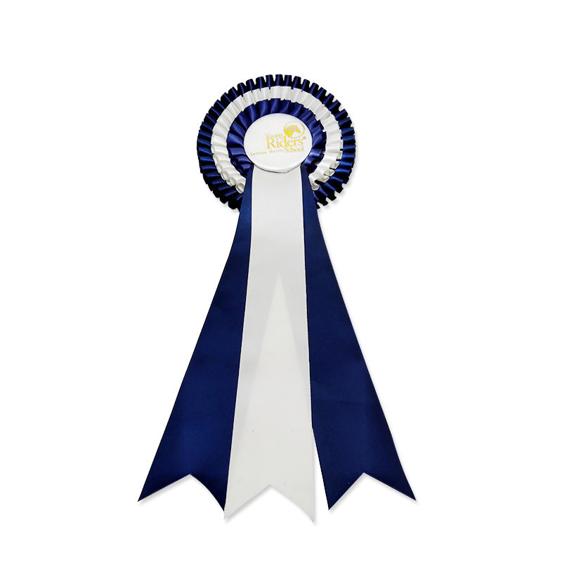 Custom Ribbon Rosette for Horse Show Elastic Dog Ribbon Bow Rosette