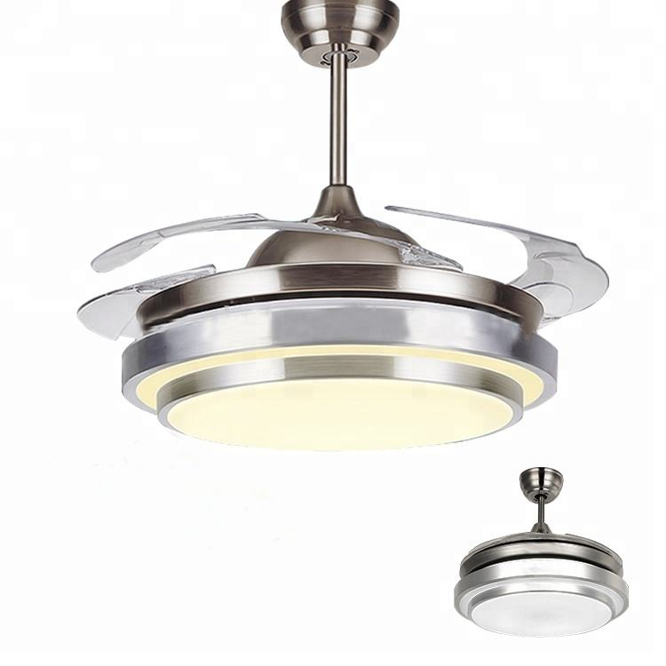 High Quality Best 42 Inch Invisible Ceiling Fans Blabe With Light Brand And Remote Ceiling Fan Low Watts Cheap Price selling fan