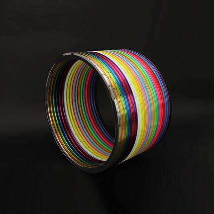 700C Colorful Fixie Bike Wheel Rim Alloy 30mm V Type Rim
