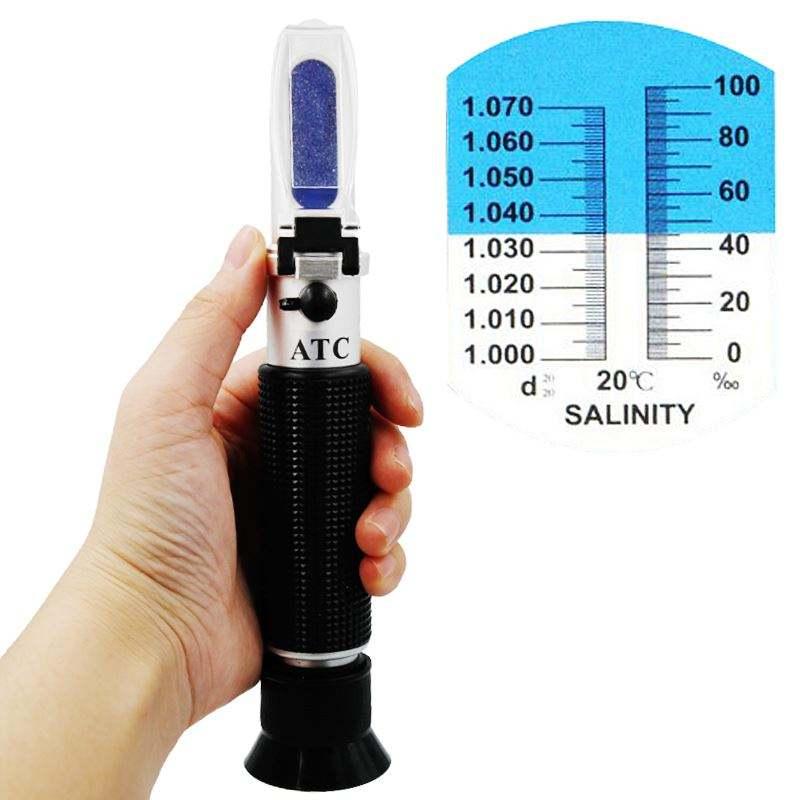Salzgehalt Tragbares ATC-Refraktometer Meerwasser-Hydrometer Optischer Tester