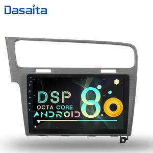 Dasaita Android 8.0 auto radio für VW golf 7 2013 grau gps navigation DVD player Audio Multimedia system Stereo 10,2 zoll bildschirm